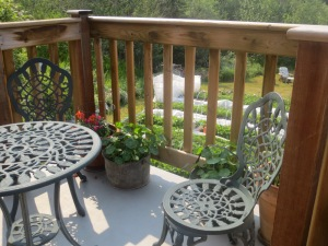 Deck plantings, and a great coffee spot!
