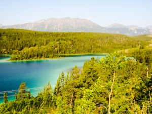 Emerald Lake, between Whitehorse YK and Skagway AK
